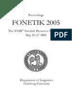 Proc Fonetik 2005
