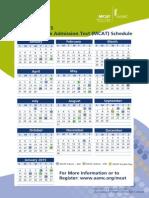 2014 MCAT Calendar