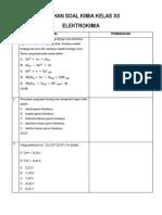Latihan Soal Kimia Kelas Xii-elektrokimia