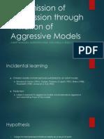 Transmission of Aggression Through Imitation of Aggressive Models