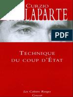 Technique Du Coup d'Etat - Curzio Malaparte