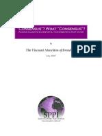 Monckton the Origin of the Claim of Consensus'