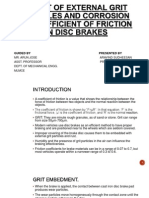 Frictional Characteristics on Brakes