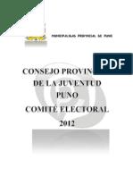 177660665 Cpj Reglamento Comite Electoral 2012