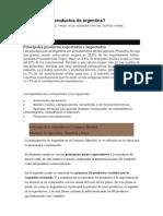 7 Principales Productos de Argentina