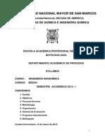 Syllabus Ingenieria Bioquimica 2013-1