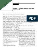 Gold Paragenesis and Chemistry at Batu Hijau