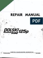 Manual Utilizare FIAT 125p(Engleza)