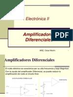 ESPOL Electronica II Clase 07 Amplificadores Diferenciales