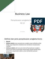 12 BL Penyelesaian Sengketa Bisnis