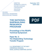 The National Shipbuilding Research Program. Proceedings of the REAPS Technical Symposium. Paper No. 2- The Shipbuilding Technology Transfer Program