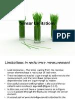 Sensor Limitations