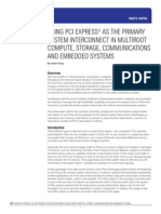 Using PCI Express as the Primary System Interconnect in Multiroot Computer, Storage, Communications, And Embedded Systems