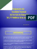 REGLAMENTO DEL ESCALAFON RDA 2012.ppt