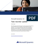 Task Recorder Update AX 2012