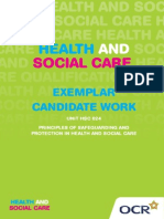 139839 Level 2 Unit Hsc 024 Principles of Safeguarding and Protection in Health and Social Care Exemplar Candidate Work (1)