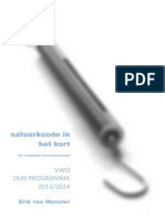 Natuurkundeinhetkort VWO 2013 2014