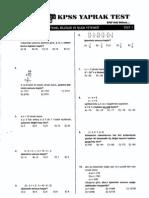 Akılı Adam - Matematik Yaprak Testleri