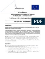 Programme - Workshop on International Protocol - 7-10 February 2012