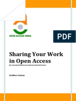 Sharing Your Work in Open Access
