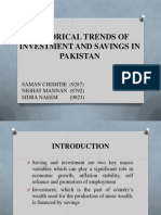 Historical Trends of Savings and Investment in Pak-pep