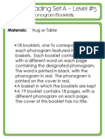 #5 Green Reading - Phonogram Word Booklets - Set A