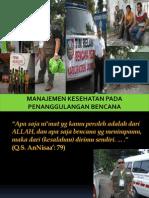 Manajemen Kesehatan Pada Penanggulangan Bencana