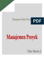 2 Manajemen Waktu Proyek