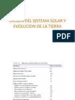 Clase 1. Origen Del Sistema Solar y Evolucion de La