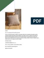 Herringbone Stitch Pillow