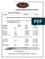 Gymnastics Registration Payment Due 2013-2014