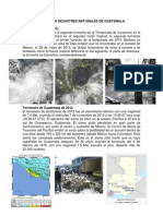 10 Ultimos Desastres Naturales de Guatemala