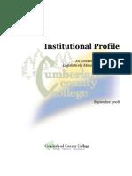3.6 Sample Institutional Profile