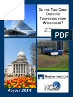 Wisconsin Tax Burden Analysis August, 2014
