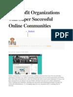 Nonprofit Organizations With Super Successful Online Communities