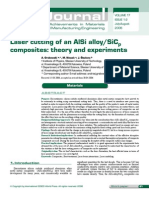 Laser cutting of an AlSi alloy/SiCp composites