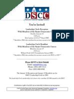 Leadership Circle Reception for Democratic Senatorial Campaign Committee