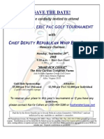 Golf Tournament for Every Republican Is Crucial PAC (ERICPAC)