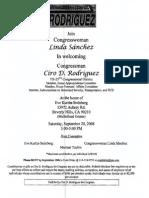 Fundraiser for Ciro Rodriguez