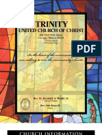 Trinity United Church of Christ Bulletin Aug 19 2007