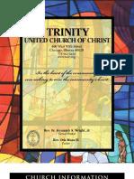 Trinity United Church of Christ Bulletin Aug 12 2007