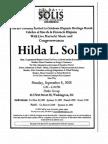 celebration of Hispanic Heritage Month for Hilda Solis