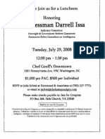 Luncheon for Darrell Issa
