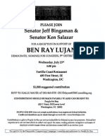 Reception for Ben Ray Lujan