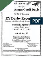 KY Derby Reception for Geoff Davis