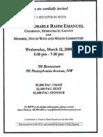 Reception for Rahm Emanuel