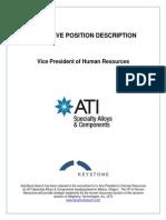 Executive Position Description-ATI VP of HR