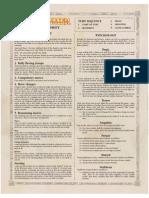 Warhammer Fantasy Reference Sheet