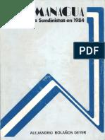 1984 en Managua, Las Elecciones Sandinistas