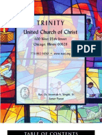 Trinity United Church of Christ Bulletin July 16 2006